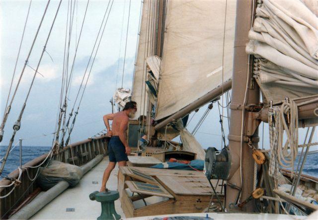 Onboard Alden schooner Constellation