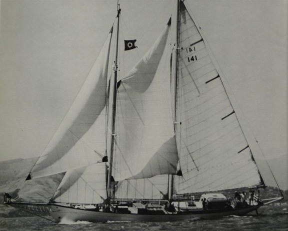 Alden schooner Constellation under sail