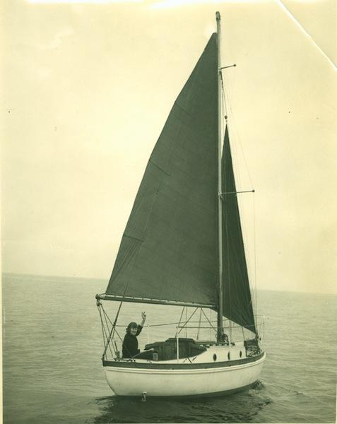 Ann Davison aboard Felicity Ann