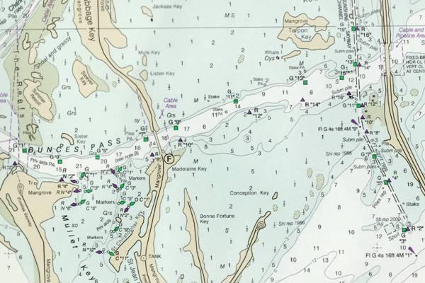 Paper nautical chart