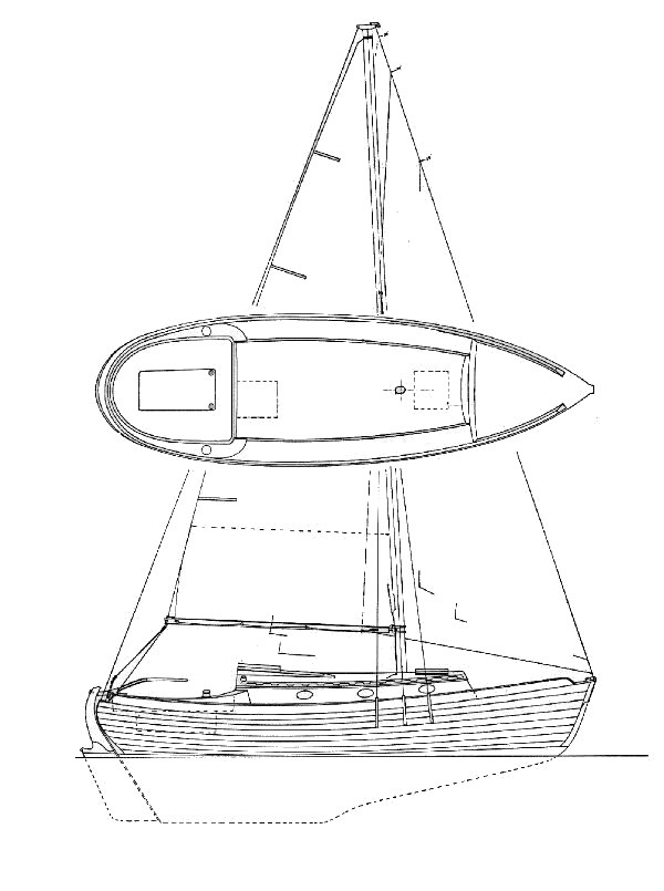Nor'Sea 27 profile drawing