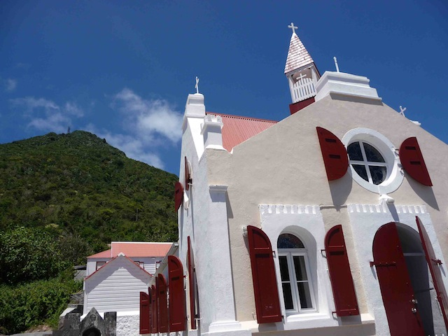 Windwardside church on Saba