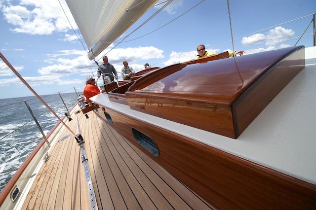 Side deck aboard Anna