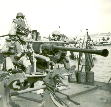 Big gun on boat