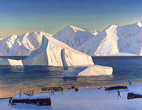 Rockwell Kent landscape painting, Greenland