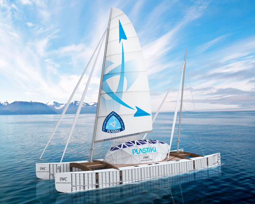 Plastiki eco catamaran