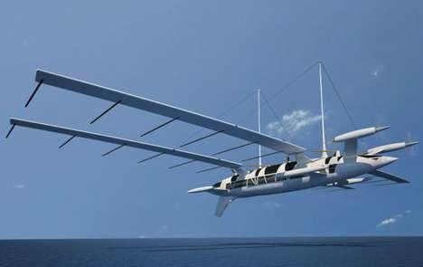 Flying Yacht by Octuri in flight