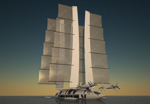 Flying Yacht by Octuri under sail