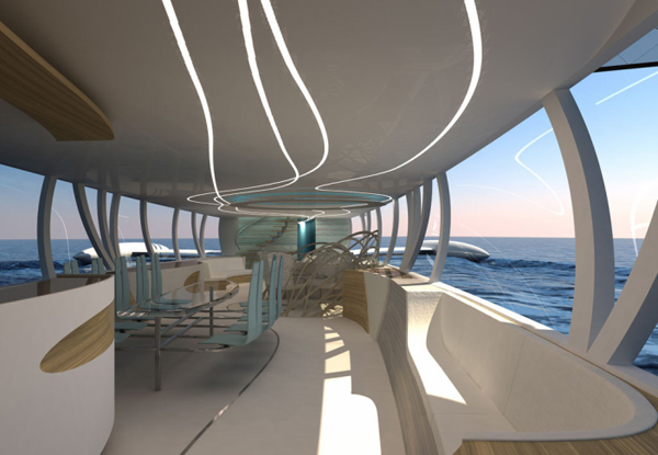 Flying Yacht by Octuri interior