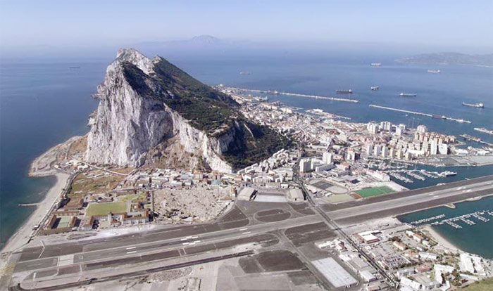 Gibraltar from the air