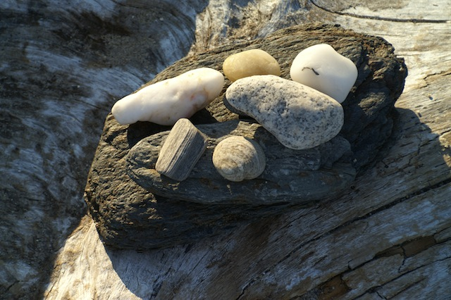 Beach stones on Little Chebeague Island