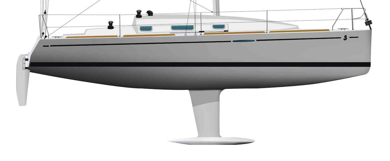 Beneteau First 30 hull profile