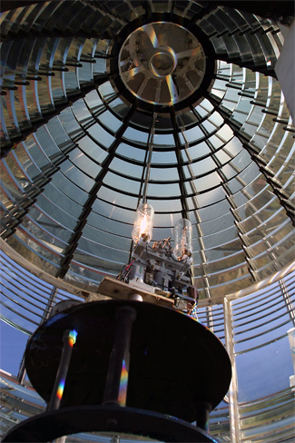Fresnel lens at Seguin Island light
