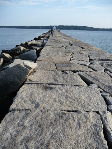 Rockland Harbor breakwater