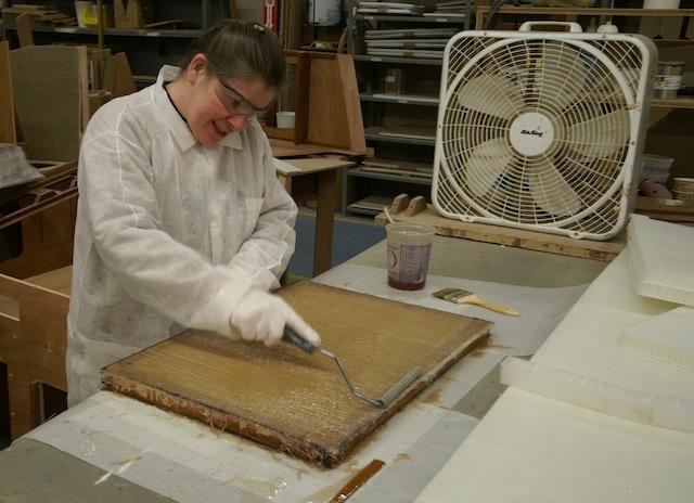 Laminating fiberglass by hand