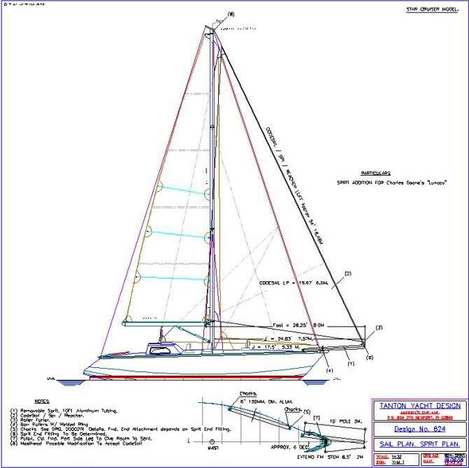Tanton bowsprit profile drawing