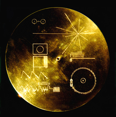 Gold record from Voyager 1