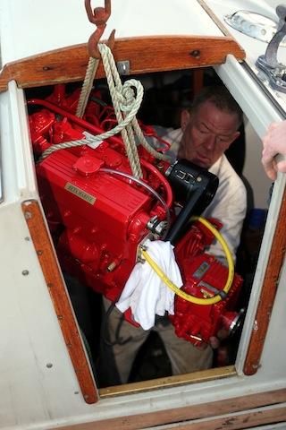 Repowering a cruising sailboat