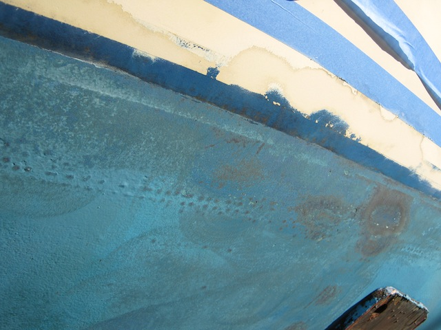 Blisters on a fiberglass boat hull