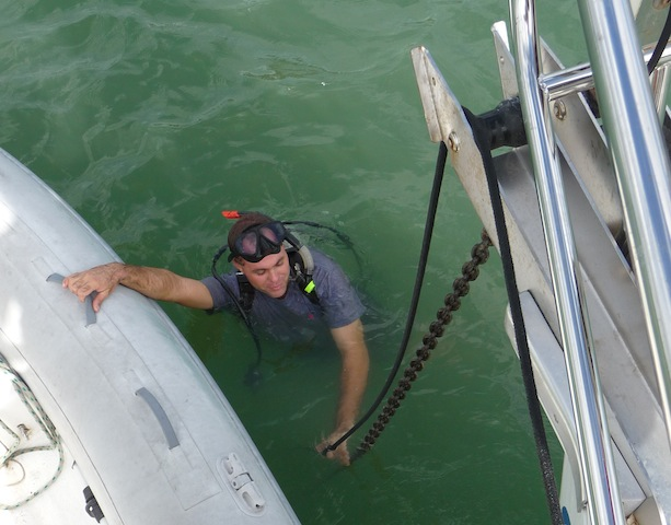 Diving on an anchor