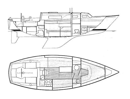 Sabre 28 plan drawing