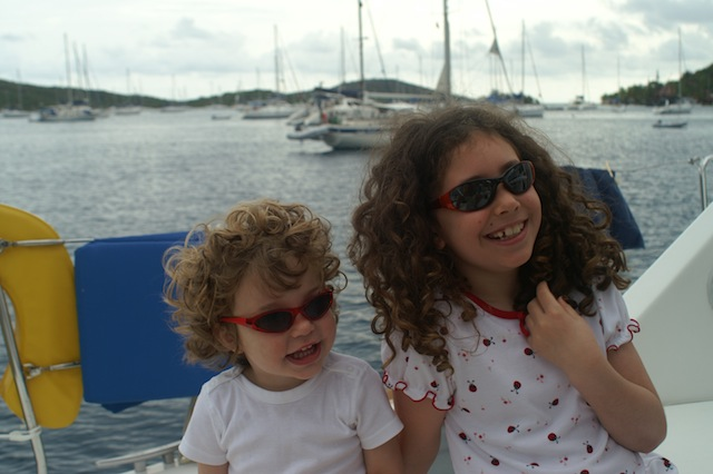 Lucy and Una aboard Mimi