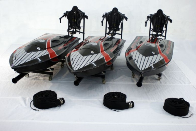 JetLev jetpack mother-boats