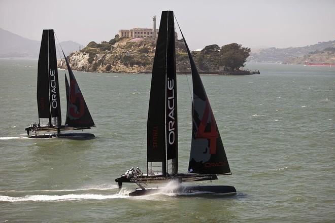 AC45s on San Francisco Bay