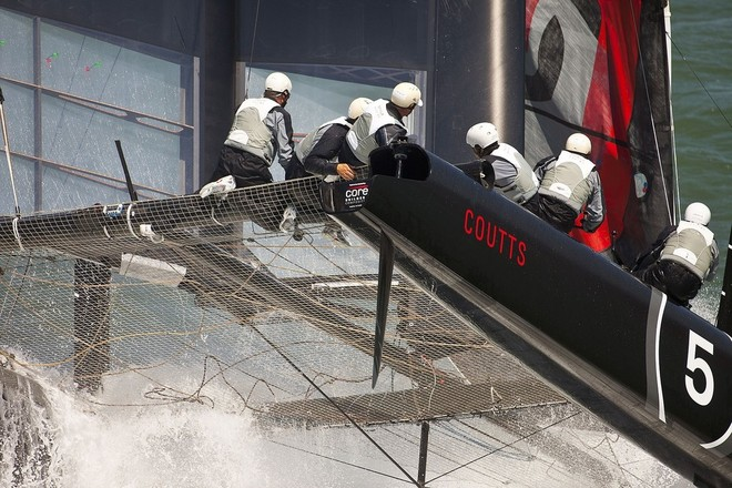 AC45 near capsize