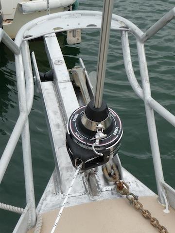 New headsail furler on Lunacy June 2011