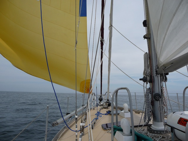 Downwind A-sail set