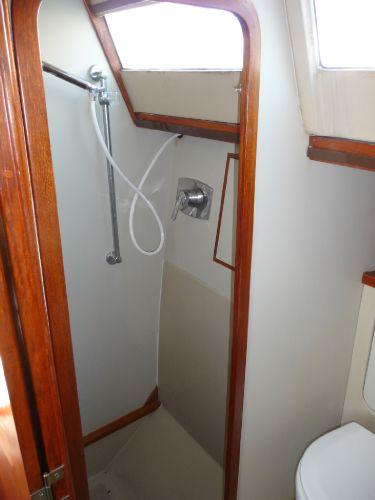 Landfall 38 shower stall