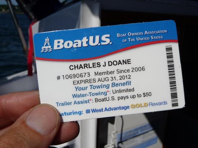 BoatUS membership card