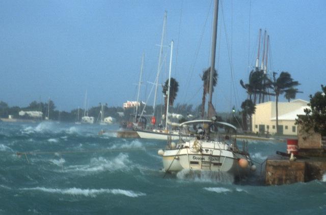 Heavy weather in Bermuda