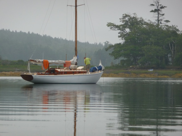 The anchorage at Snow Island