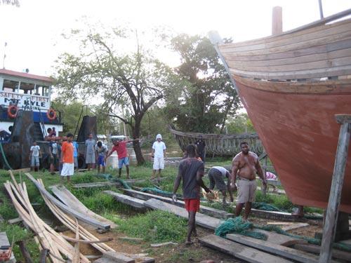 Boat building at Supanam, Guyana