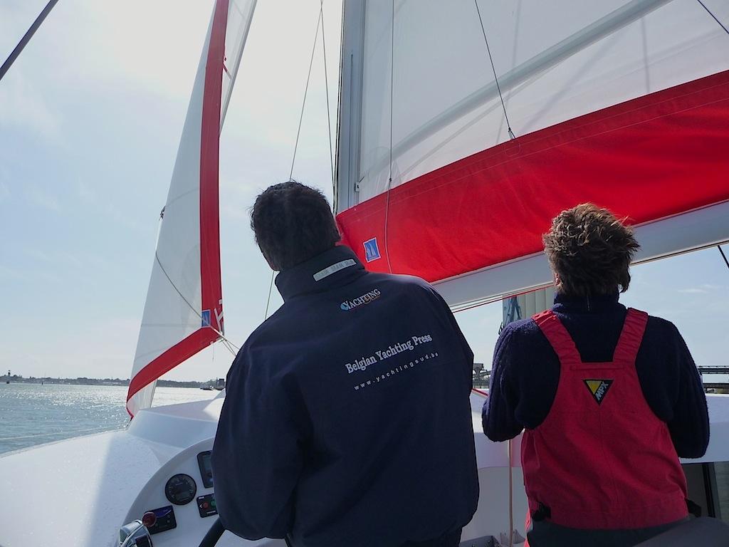 Neel 45 under sail