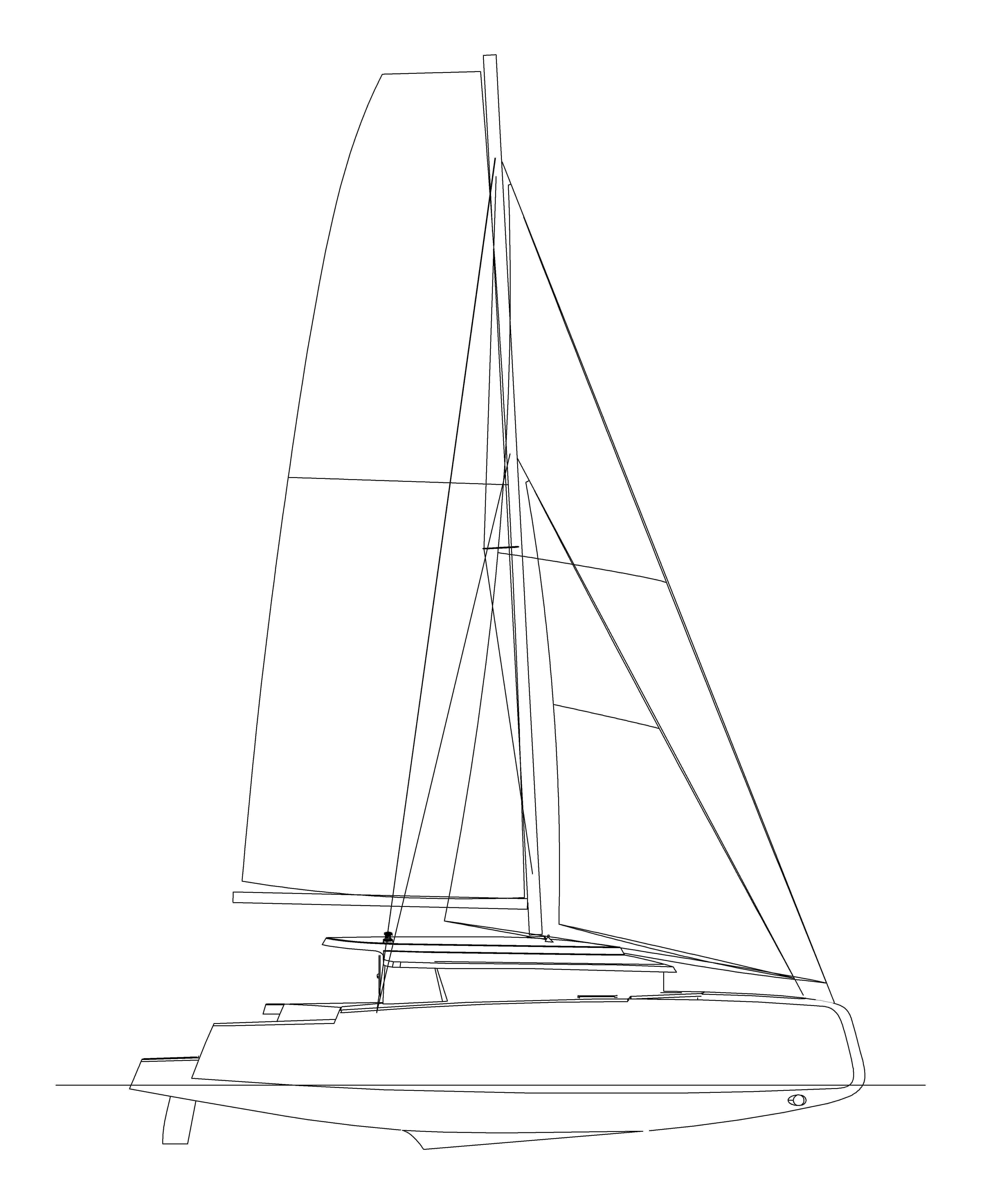 Neel 45 profile drawing