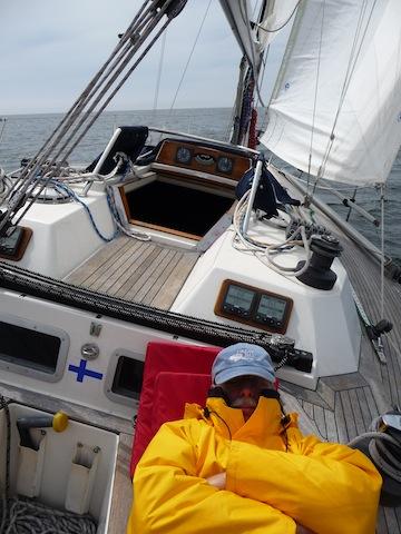 Charles McCleod aboard Alida