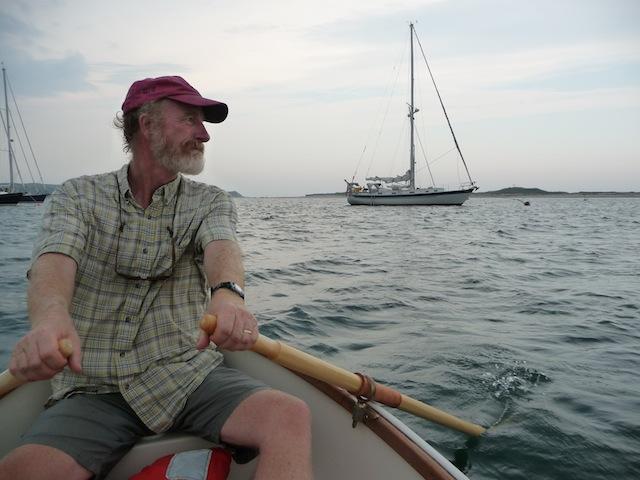 Rowing a tender