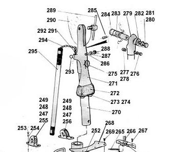 Aries windvane parts