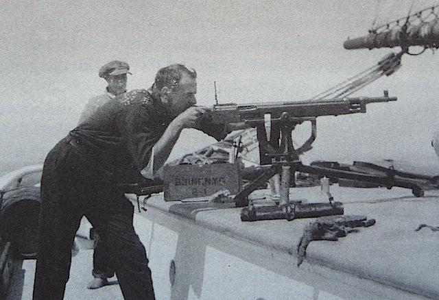 Machine gun practice on Rum Row