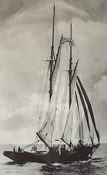 Arethusa under sail