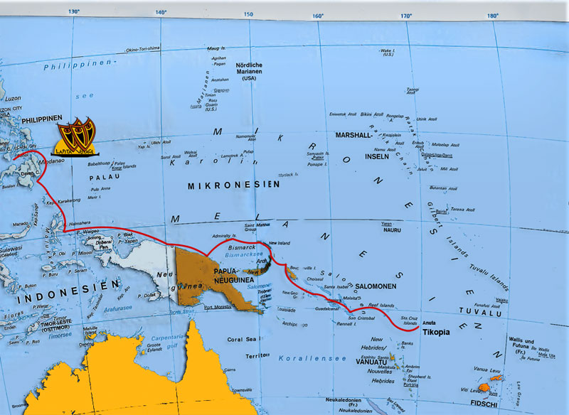 Lapita Voyage route