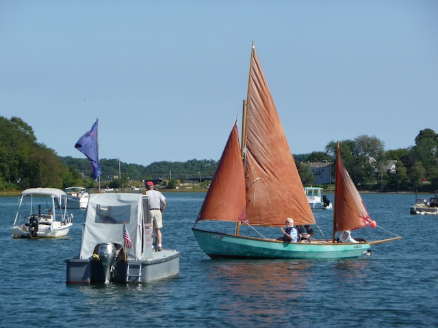 Drascombe Longboat under sail