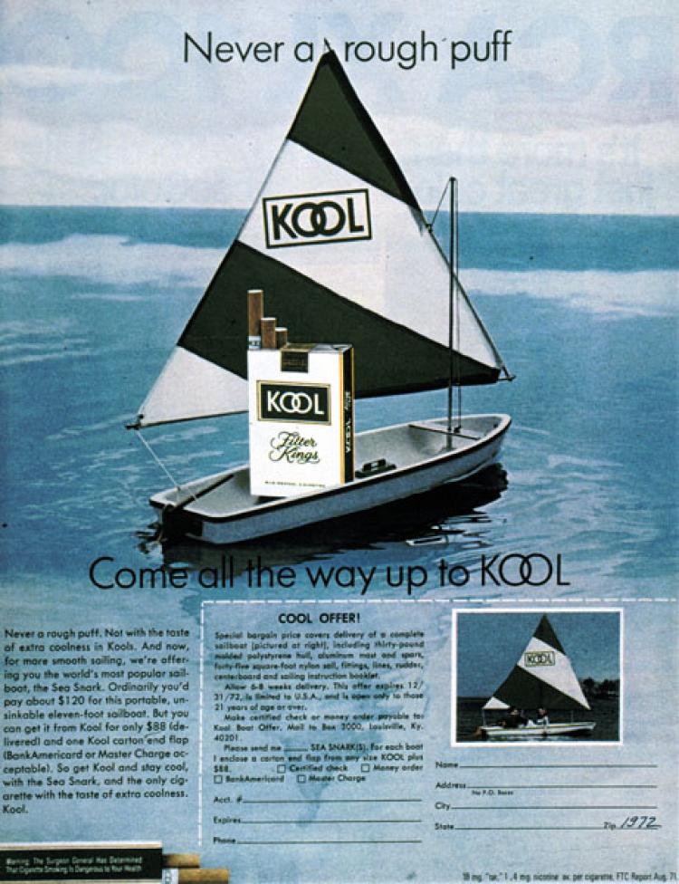 Kool sailboat ad