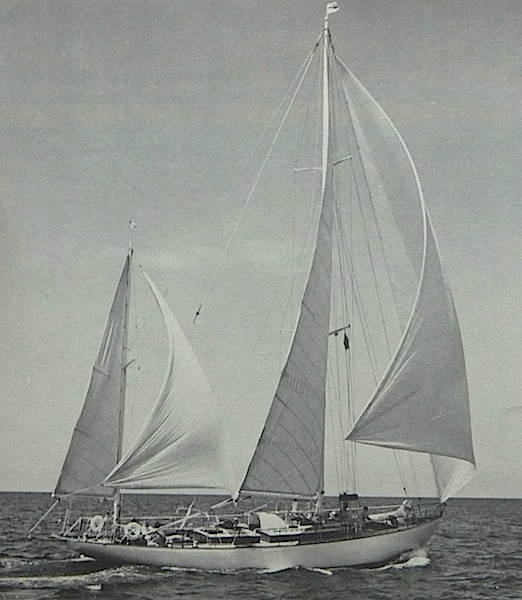 Caribbee under sail