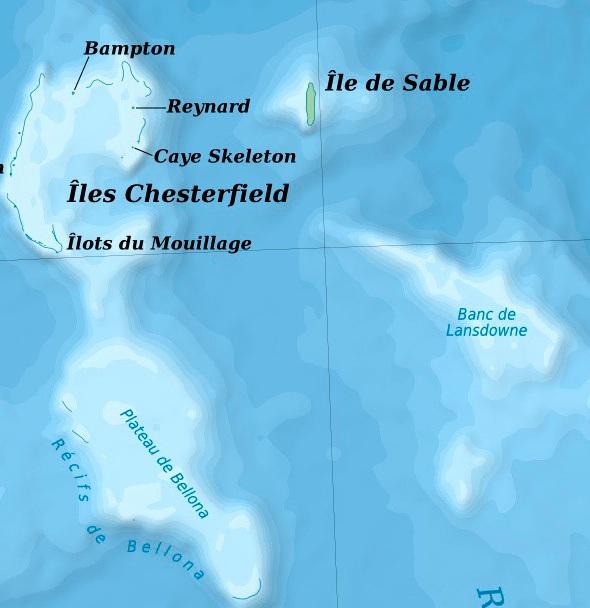 Sable Island map