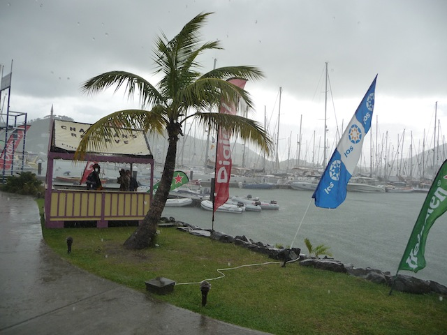 St. Lucia rain squall