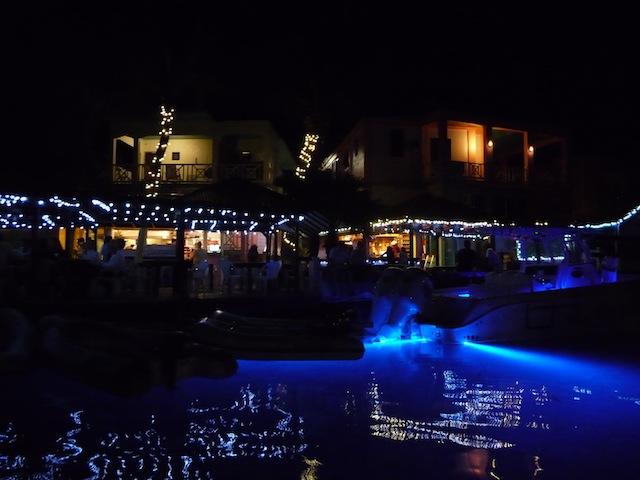 Culebra canal at night